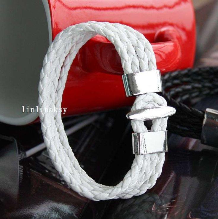 Comprar barato en accesorios de moda hombre pulsera de cuero trenzado Multi cuerda trenzada de cuero T aleación pulsera hebilla Buycheapbracelet.com
