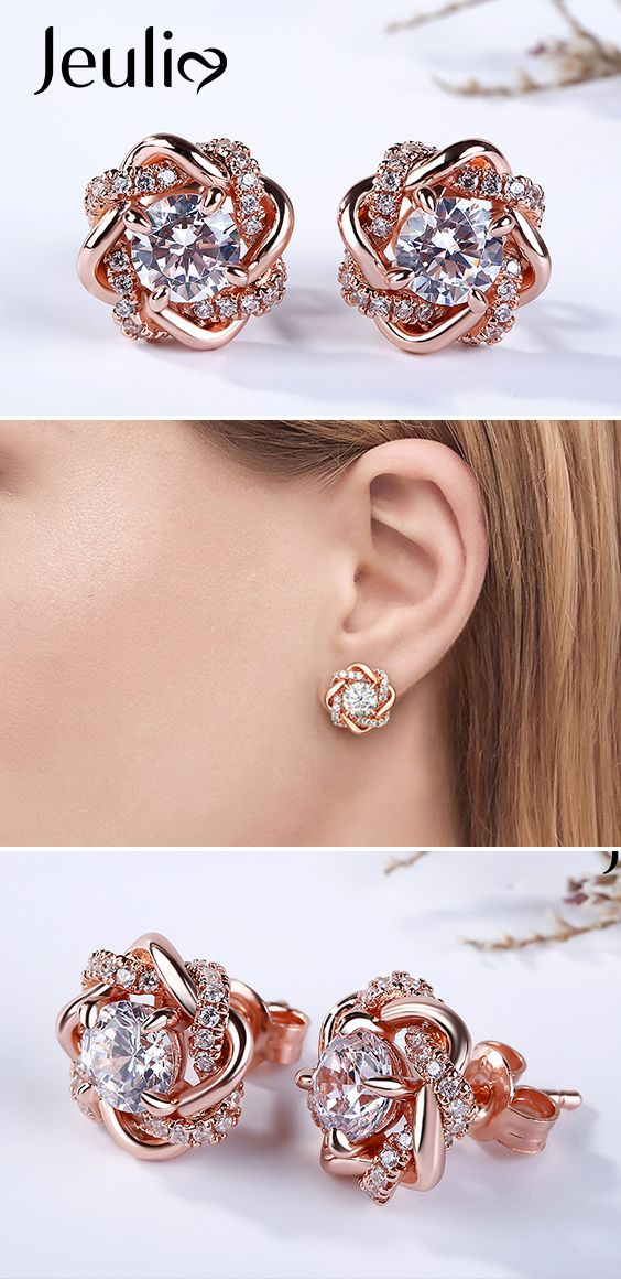 b8b02ab83 These perfect earrings make you become the center of attention. Each earring  features a sparkling