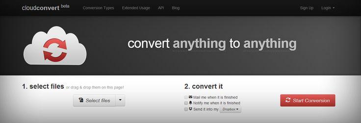 Blogumzuda yeni yazı;  Her Şeyi Her Şeye Çevirin! CloudConvert ile  http://blog.ajansweb.com/2015/01/her-seyi-her-seye-cevirin-cloudconvert.html