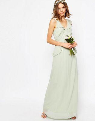 ASOS WEDDING - Vestito lungo con volant