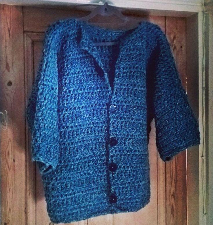 Crochet three quarter sleeve jacket