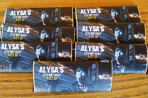 I recently hosted a Call of Duty Black OPS 2 birthday party for my daughter and we handed out these personalized Hershey chocolate bars for party favors.   My daughter's favorite aspect of the new Black OPS video game are the zombies, so I was pleased to find these candy wrappers available.