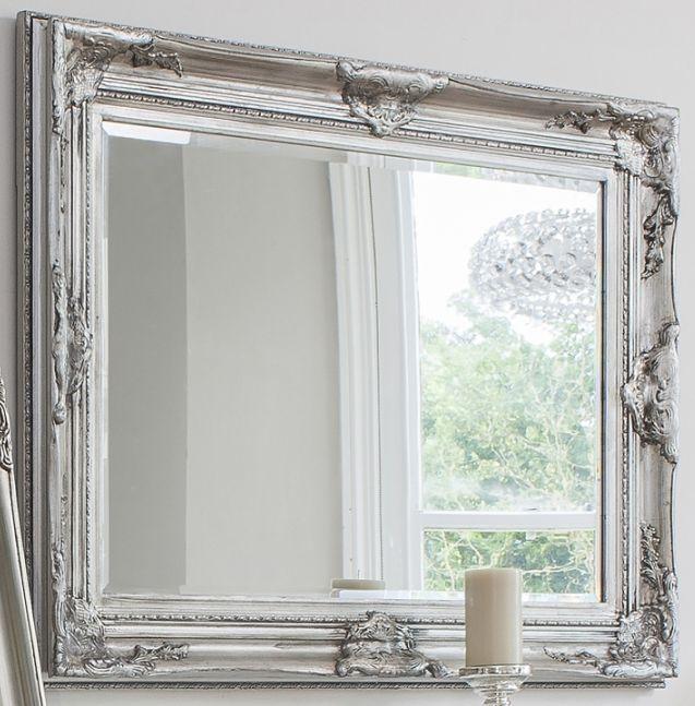 Gallery Direct Harrow Rectangle Mirror - Silver