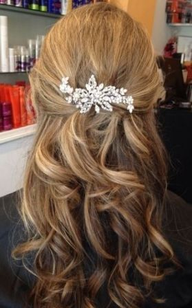New wedding hairstyles half up half down with clip 47+ Ideas