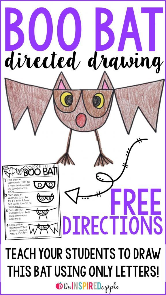How fun is this super simple directed drawing activity?! Teach your students to make this sweet little bat using only six letters from the alphabet! Check out the post to snag a copy of the directions for FREE!
