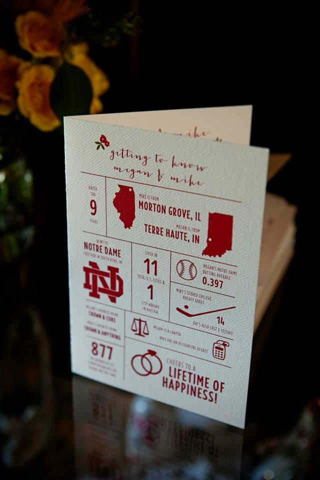 wedding program, infographic, one color, icon, illustration, typography, section, line, facts