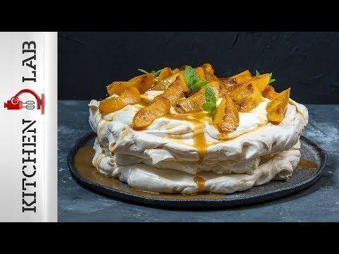 Pavlova με ροδάκινα Επ.4 | Kitchen Lab TV - YouTube