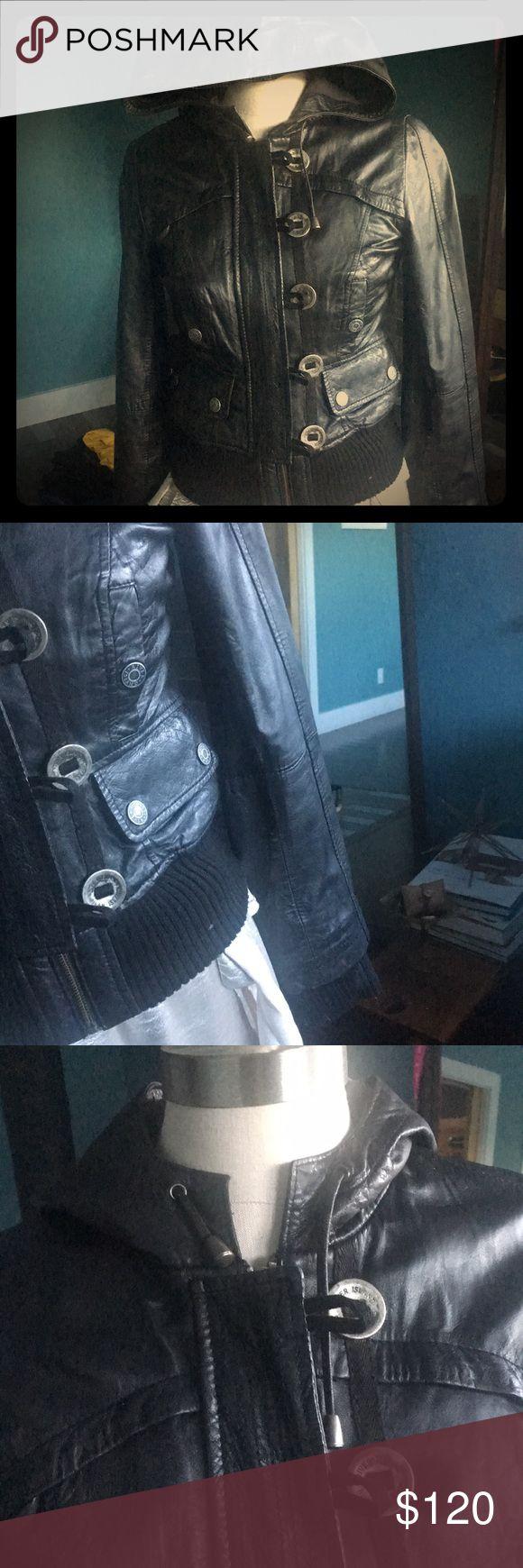 Leather bomber jacket Really nice leather bomber jacket , fitted River island river island Jackets & Coats