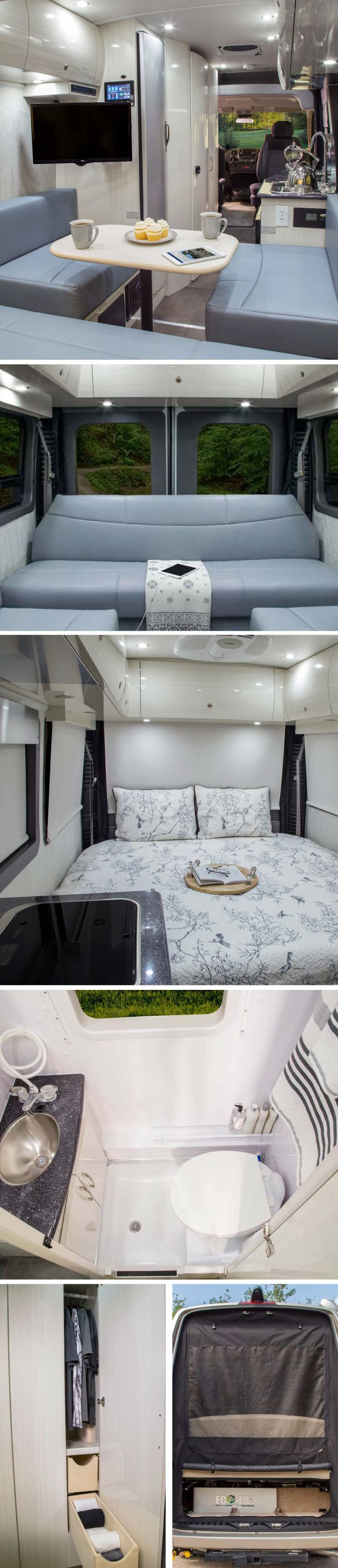 Modern and stylish Lexor Class B from Pleasure-Way | Live the #Vanlife in modern luxury | View more at Campers Inn RV | #RVliving #Glamping #adventuretime #AdventureAwaits