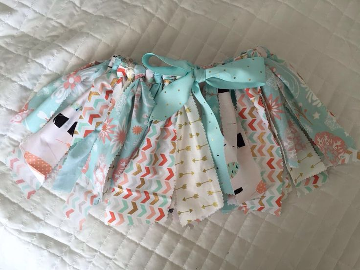 Лоскутная юбка супер идея для малышки на первый день рождения!!! Стоимость $30
