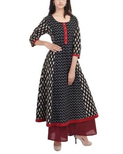 Black Kairi Anarkali Kurta I Shop at :http://www.thesecretlabel.com/designer/jaypuria