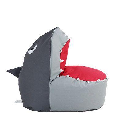 Look what I found on #zulily! Gray Shark Beanbag by HRH Designs #zulilyfinds