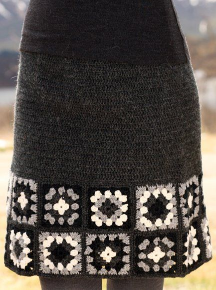 Crochet skirt...no pattern Cute!  I have some granny squares I made for another skirt I could use for this!