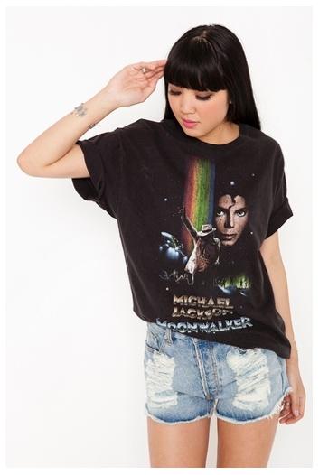 Vintage Michael Jackson Moonwalker Tee T Shirt Nasty Gal