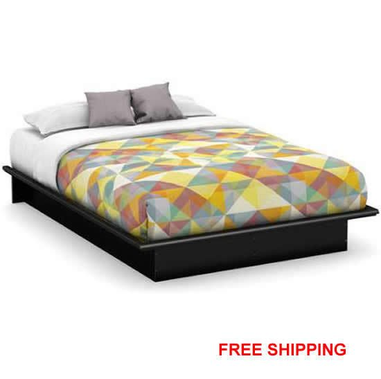 queen size platform bed frame no box spring needed use w mattress 4 colors new - Queen Size Platform Bed
