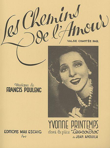 99 best affiches spectacles images on pinterest stage show yvonne printemps les chemins de lamour fandeluxe Images