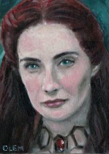 ACEO Original not a print  Melisandre Carice Anouk van Houte Game of Thrones  | eBay