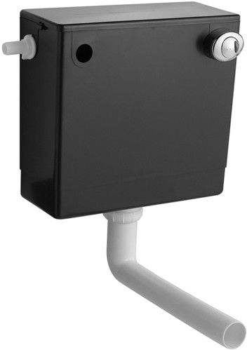 Ultra Cistern Concealed Toilet Cistern With Dual Push Button Flush. Save 18%  Free delivery to mainland Ireland.  Push button concealed toilet cistern.      Suitable for back to wall toilets or vanity WC units.     Dual push button flush.     Internal overflow.     6 Litre full flush or 3 litre half flush.     Size 460W x 127D x 332H mm.   €59.03 inc VAT & Delivery