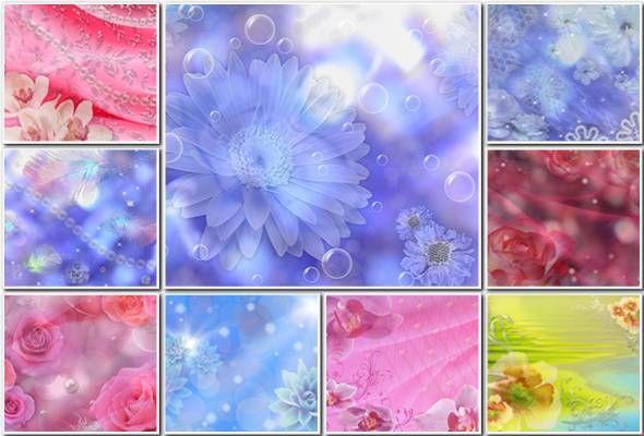 Шаблоны картинки для поздравления с цветами