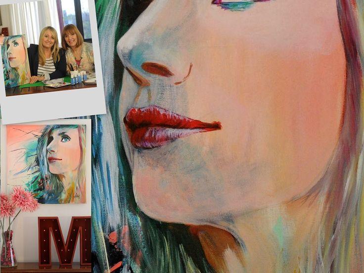 Pintar un retrato a partir de una Fotografia - Pintar en Acrilico -