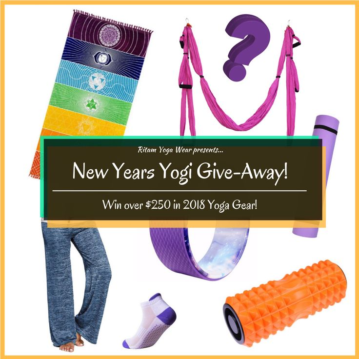 Ends January 31, 2018 One lucky winner gets over $250 worth of Yoga Gear!