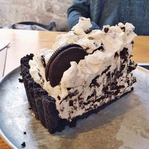 A slice of Oreo cookie pie from The Pie Tin, Newtown.