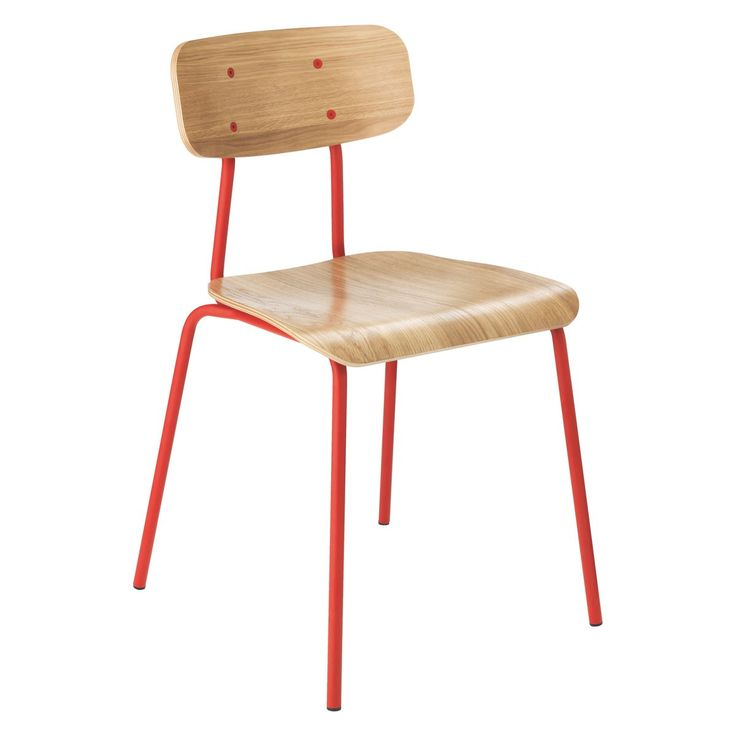 HESTER Red stackable dining chair | Buy now at Habitat UK