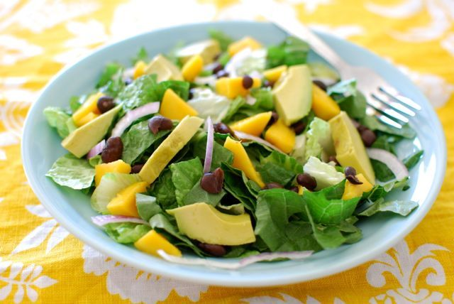 Mango Avocado Salad with Creamy Salsa Dressing