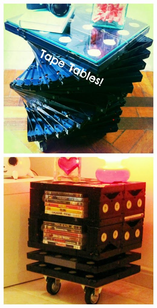Tables from old betamax and VHS tapes  :)