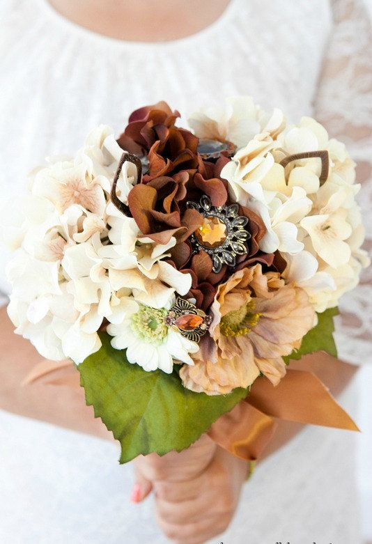 Copper Brown Cream and White Fall bouquet by EightTreeStreetWed, #Etsy treasury item http://www.etsy.com/treasury/MjAwNTY3NTN8MjcyMzM1MTQzOA/wedding?index=0