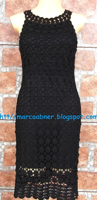 Marcinha crochê: VESTIDO DE CROCHÊ PRETO CROCHET AND TRICOT INSPIRATION: http://pinterest.com/gigibrazil/crochet-and-knitting-lovers/