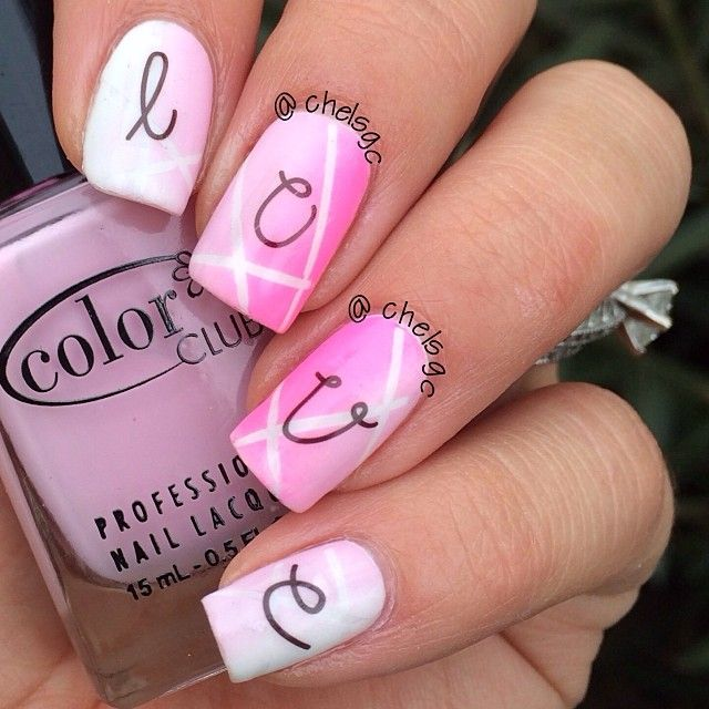 valentine by chelsgc #nail #nails #nailart