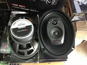 NSE series premium #speakers produce clear detailed sound that is unheard of in conventional #caraudio speakers. NSE953 is a 6 x 9 inch 3 way speaker with 35W #RMS, peak power of 500W.  #NakamichiSA #InCarEntertainment #CarAudio