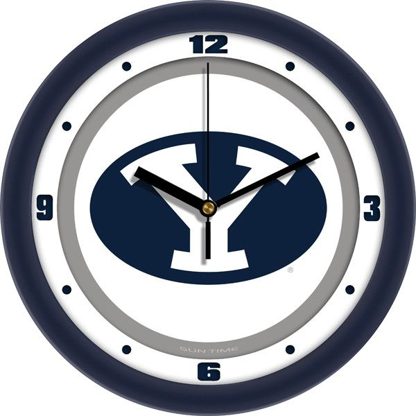 "Demonstrate your school spirit in your home or office with a beautifully crafted wall clock. Our 12"" Traditional Wall Clocks feature a quartz accurate movement. Unlike plastic wall clocks, you experie"
