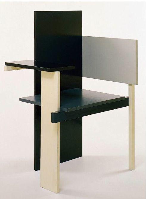 1923 Berlin Chair Gerrit Rietveld The Palate Of Black