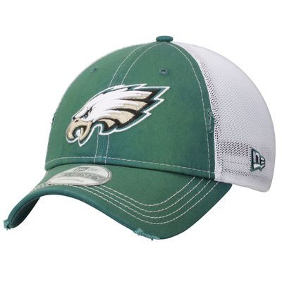 Philadelphia Eagles New Era Prime 9TWENTY Adjustable Hat - Midnight Green/White