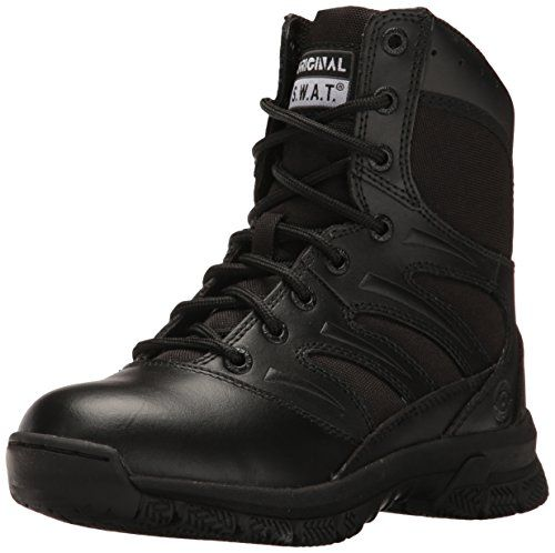 Original SWAT Mens Force 8 Side Zip Military and Tactical Boot Black 105 M US * You can find more details by visiting the image link.