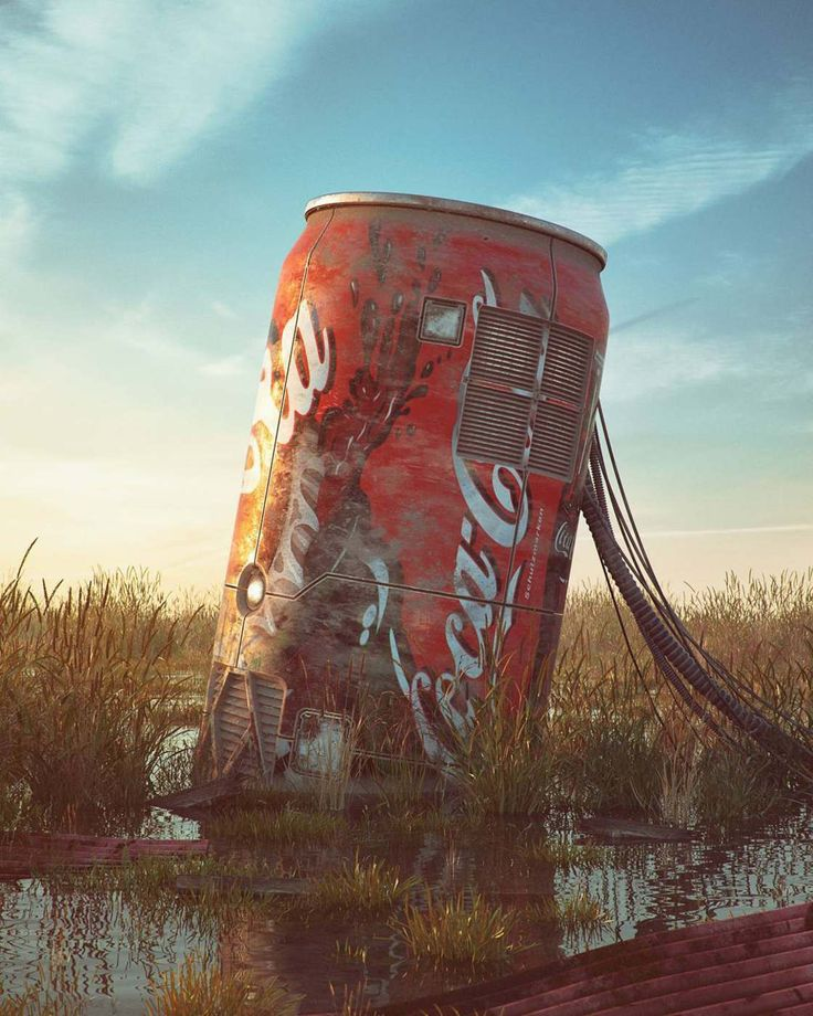 For his new series, the artist Filip Hodas explores the modern ruins of pop culture, creating post-apocalyptic landscapes populated by vestiges of video games,