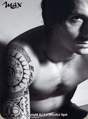 Zlatan Ibrahimovic tatoo.