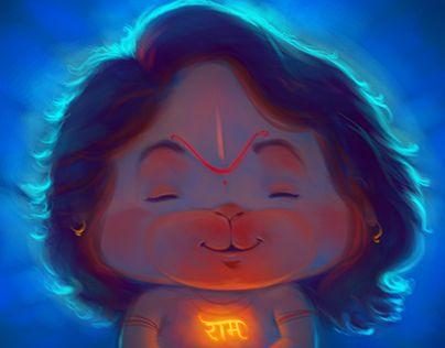 Peaceful Hanumana