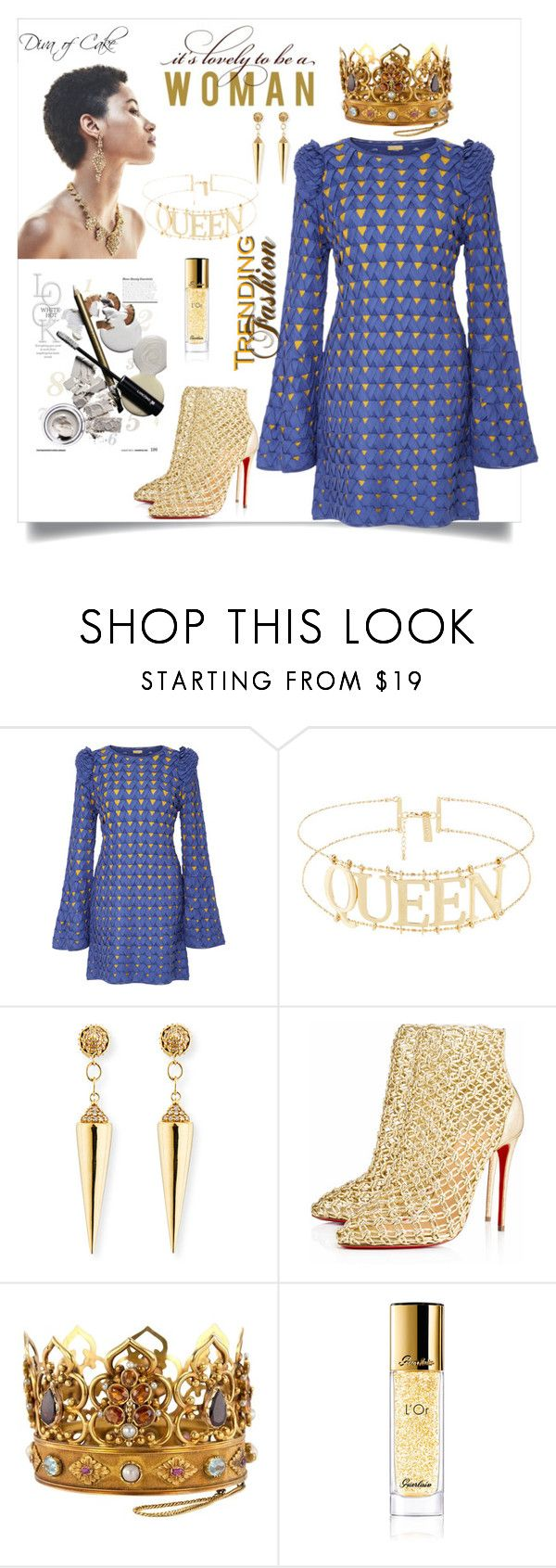 """""""Untitled #311"""" by kercey ❤ liked on Polyvore featuring Pepa Pombo, Sydney Evan, Christian Louboutin and Guerlain"""