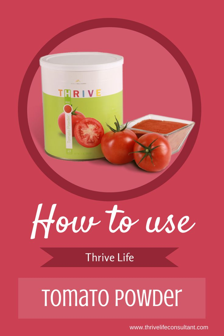 Thrive Life Consultant: Pizza Sauce and How to Use Tomato Powder