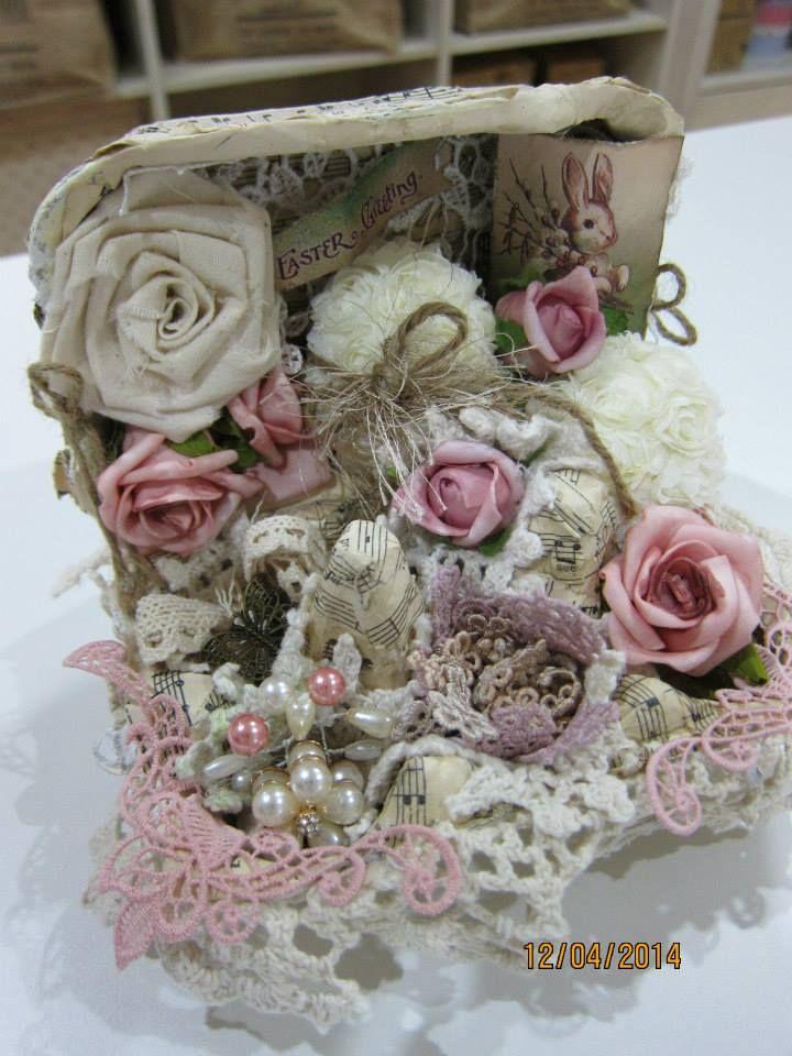 177 best egg carton gift boxes images on pinterest easter eggs vintage handmade doily bag altered egg carton negle Gallery