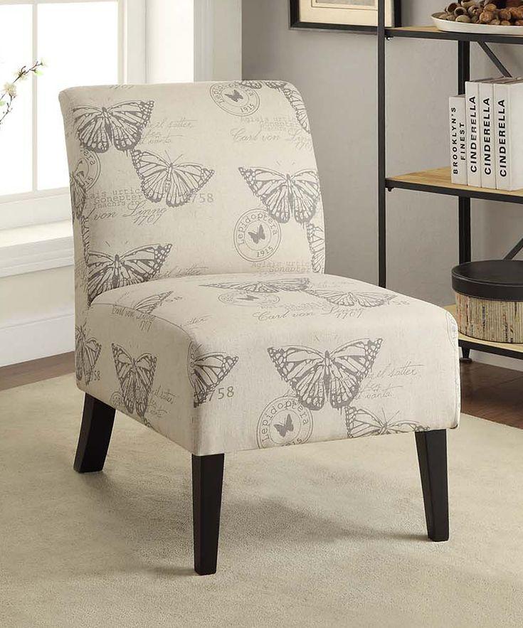 Linon Home Butterfly Lily Linen Chair Zulily Home