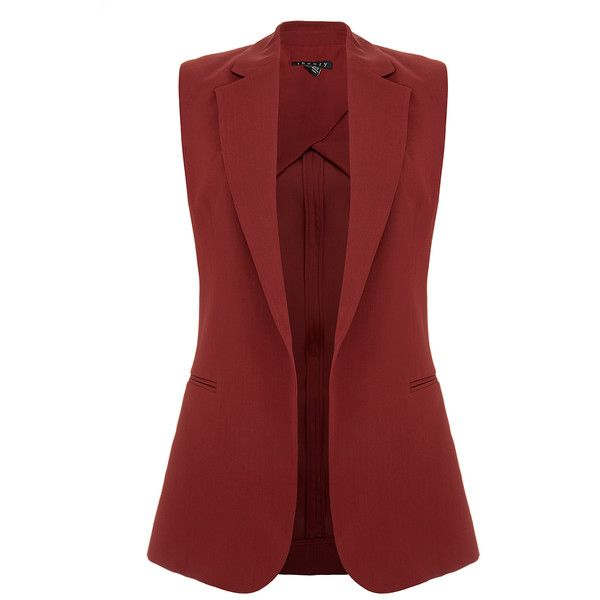 Theory Adar Beetroot Burgundy Waistcoat (12.685 RUB) ❤ liked on Polyvore featuring outerwear, vests, vest, jackets, tops, burgundy, burgundy vest, burgundy waistcoat, red waistcoat and red vest