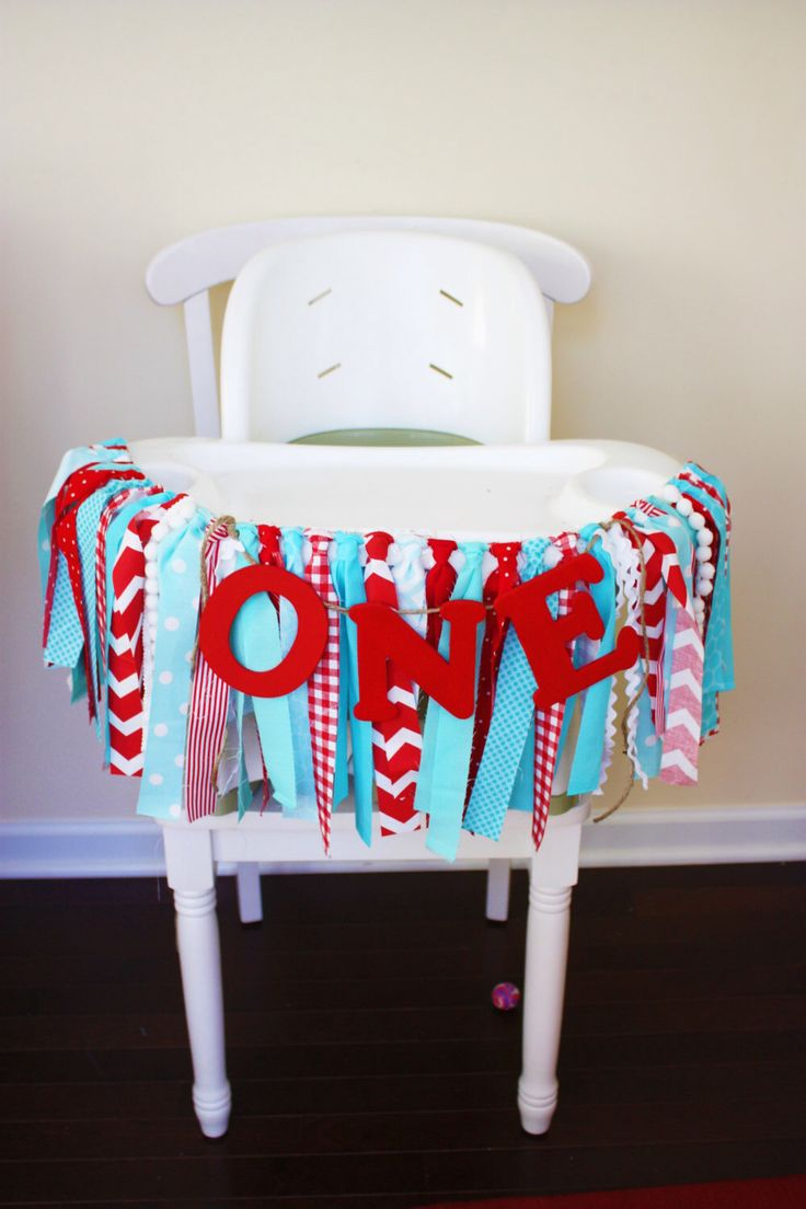 Dr. Seuss Highchair Banner, 1st Birthday Banner, Highchair Banner, Highchair garland, rag banner, Circus highchair, Photo Prop, Age Banner by MyLittleBoobug on Etsy https://www.etsy.com/listing/232048630/dr-seuss-highchair-banner-1st-birthday