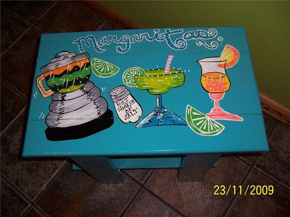 Tropical Adirondack Table Handcrafted Hand Painted