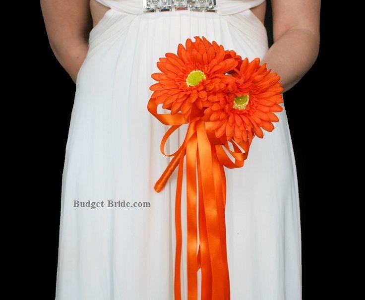Small Gerbera Daisy Wedding Bouquet, small bridesmaid bouquet ideas