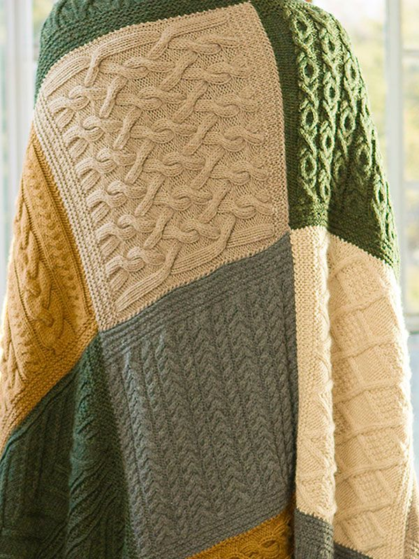 Norah's Vintage Afghan is made up of 20 blocks worked in 5 beautiful colors, now available as a complete free PDF.