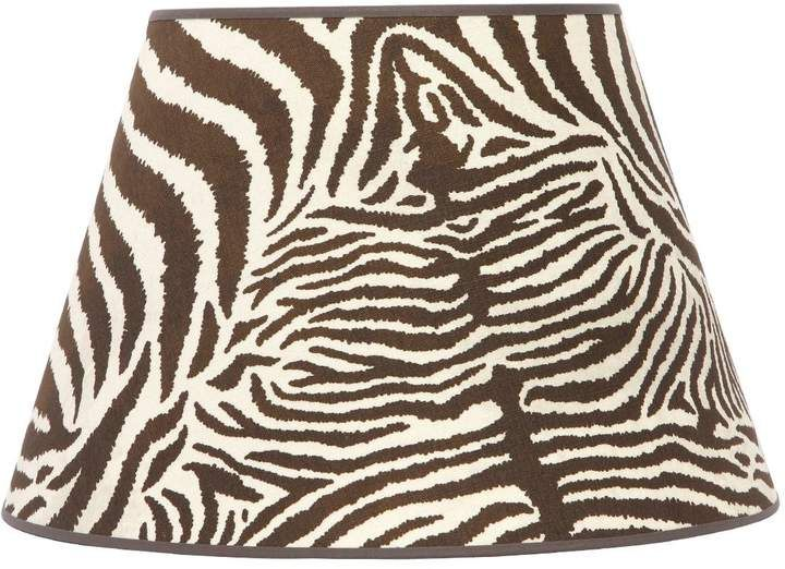 Equus Daley Zebra Print Cotton Lampshade Luxury Shop Animal